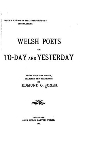 Welsh lyrics of the XIXth century by Edmund Osborne Jones