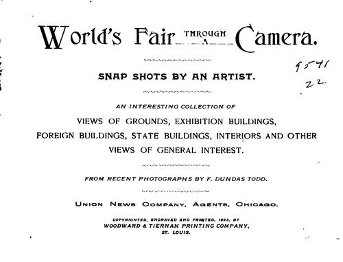 World's fair through a camera by Frederick Dundas Todd