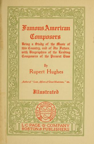 Famous American composers