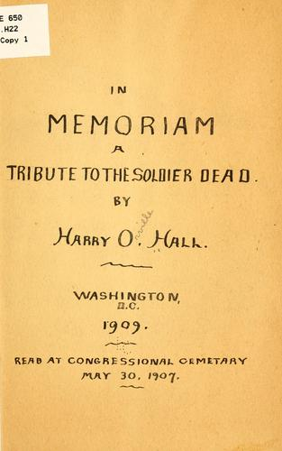 In memoriam by Harry Orville Hall