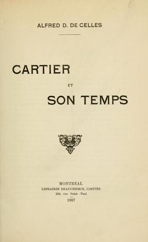 Cartier et son temps